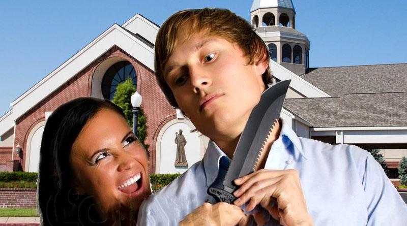 woman killing man at wedding
