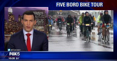 Fox 5 news cast in NYC for the TD five boro bike tour